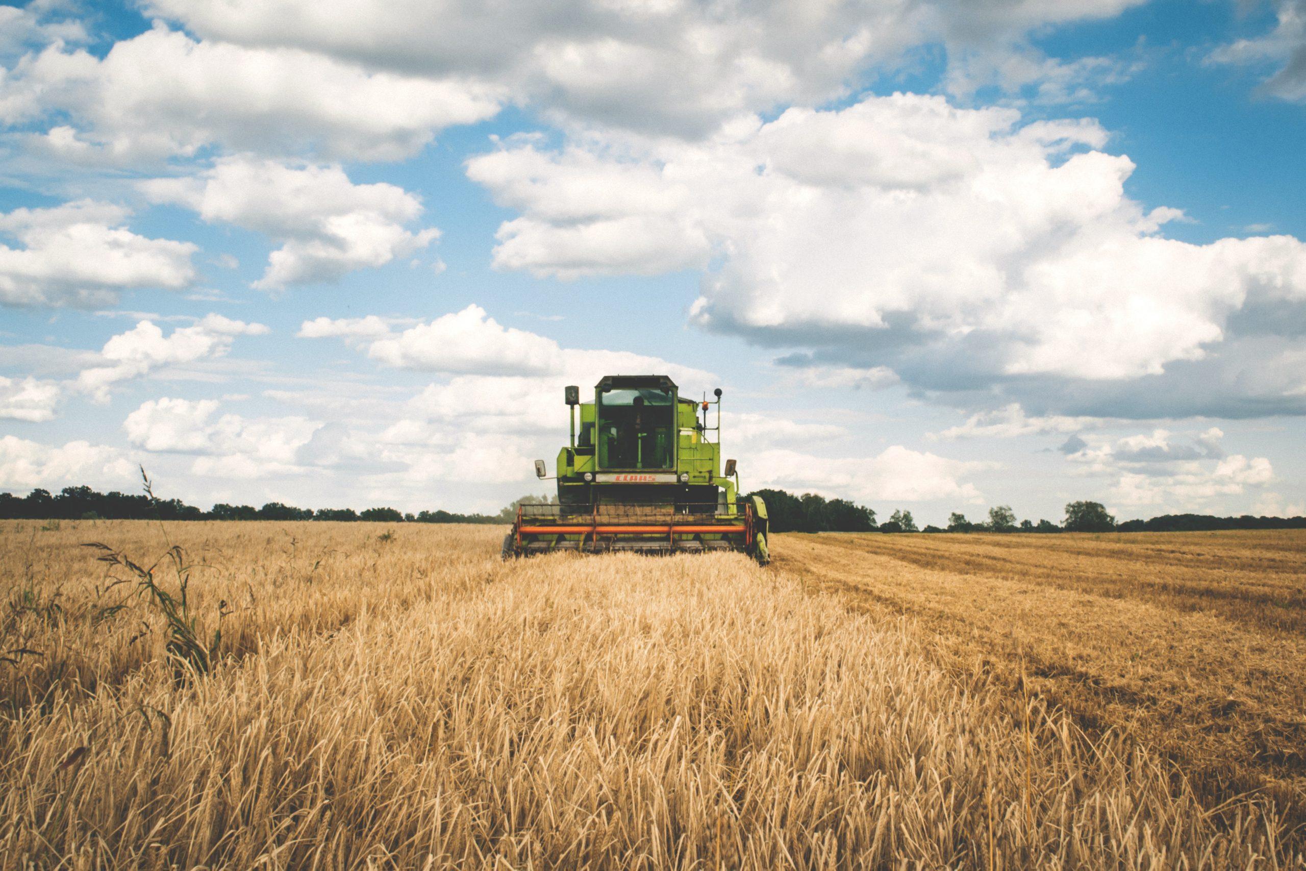 Champs, tracteur. Crédit photo: Pexels/freestocksorg