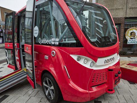 Quelle technologie pour les navettes autonomes de la Plaza St-Hubert?